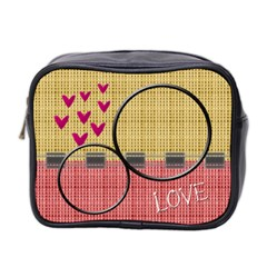 Love Toiletries Bag By Daniela   Mini Toiletries Bag (two Sides)   404xc2v3uidy   Www Artscow Com Front