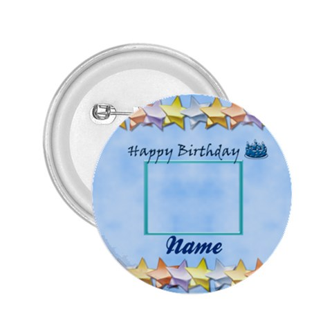 Happy Birthday button by Daniela Front