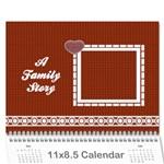 A Family Story Calendar 18m - Wall Calendar 11  x 8.5  (12-Months)