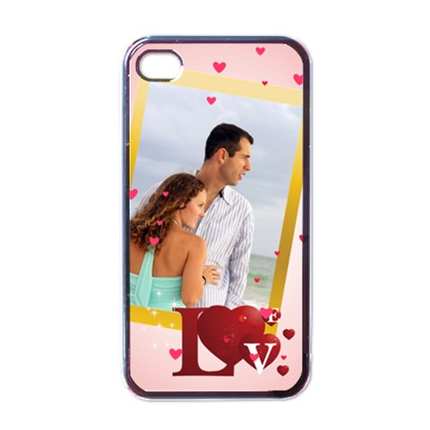 Love Of Case By Wood Johnson   Apple Iphone 4 Case (black)   74djz2pt8z53   Www Artscow Com Front