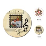 Sweet Music round playing cards - Playing Cards (Round)