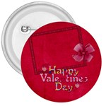 Happy Valentines Day Button 1 - 3  Button