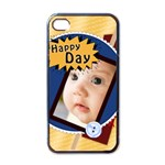 happy day - Apple iPhone 4 Case (Black)