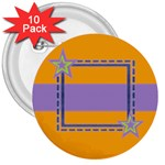 Little Star buttons - 3  Button (10 pack)