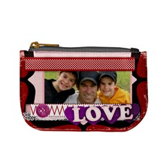 Love Of Family By Joely   Mini Coin Purse   Dw1yip2ks9d5   Www Artscow Com Front
