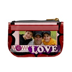 Love Of Family By Joely   Mini Coin Purse   Dw1yip2ks9d5   Www Artscow Com Back