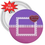 You & Me Forever Buttons - 3  Button (10 pack)