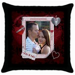 You & Me Valentine Throw Pillow Case - Throw Pillow Case (Black)