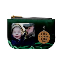 Like Father, Like Son Mini Coin Purse By Lil    Mini Coin Purse   Cr0m8jjmcigf   Www Artscow Com Front