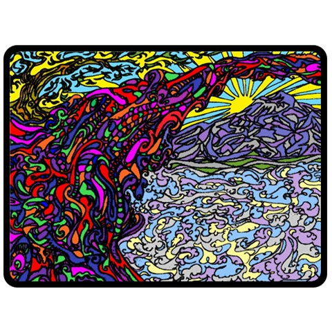 Rainbow Bridge By Alienjunkyard   Fleece Blanket (large)   Na3l4bdbn5s6   Www Artscow Com 80 x60 Blanket Front
