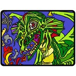 Old Dragon - Fleece Blanket (Extra Large)
