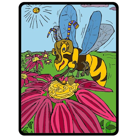 Bee World By Alienjunkyard   Fleece Blanket (large)   Npzntez1ew7r   Www Artscow Com 80 x60 Blanket Front