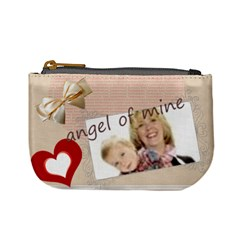Angel Of Mine By Joely   Mini Coin Purse   Zs36rxdil5uh   Www Artscow Com Front