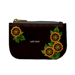 Mini Coin Purse  Orange Flowers By Jennyl   Mini Coin Purse   Iiysyumr3dut   Www Artscow Com Front