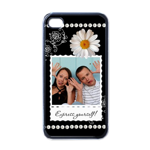 Express Yourself! Apple Iphone Case By Lil    Apple Iphone 4 Case (black)   7ivy4ol0d9w6   Www Artscow Com Front