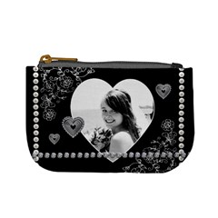 Elegant Pearl Heart Mini Coin Purse By Lil    Mini Coin Purse   Izvx7vn9nb5x   Www Artscow Com Front