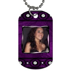 Purple By Heather Knigge Zepeda   Dog Tag (two Sides)   Npiypztad5sh   Www Artscow Com Back