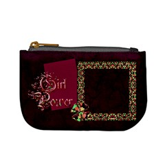 Girl Power Coin Bag 1 By Lisa Minor   Mini Coin Purse   Xdi3hcyrtzc5   Www Artscow Com Front