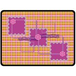 Pinky Yellow Blanket - Fleece Blanket (Large)