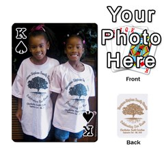 King Family Reunion 5 5 By Tomika Holmes   Playing Cards 54 Designs   Iya9scg8s178   Www Artscow Com Front - SpadeK