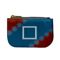 Blue & Red Coin Purse By Daniela   Mini Coin Purse   5qciovuf1ho9   Www Artscow Com Front