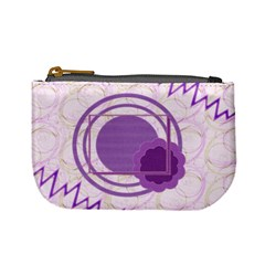 Purple Circle Coin Purse By Daniela   Mini Coin Purse   Uqtjpa9culh9   Www Artscow Com Front