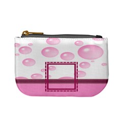 Pink Bubbles Coin Purse By Daniela   Mini Coin Purse   5uvmvv2b4qhb   Www Artscow Com Front