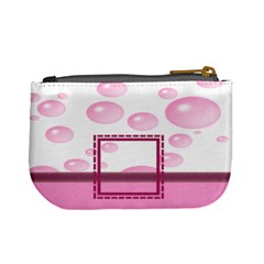Pink Bubbles Coin Purse By Daniela   Mini Coin Purse   5uvmvv2b4qhb   Www Artscow Com Back