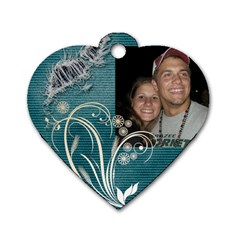 Sadie And Mike By Macrae Putnam   Dog Tag Heart (two Sides)   Cl0y8h5f66k1   Www Artscow Com Back