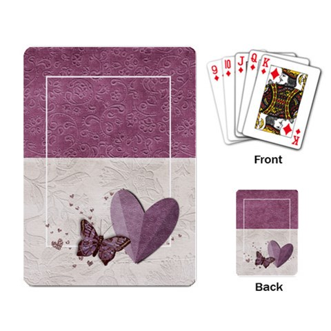 Legacy Of Love Playing Cards By Mikki   Playing Cards Single Design   Vcnd0sq9maar   Www Artscow Com Back