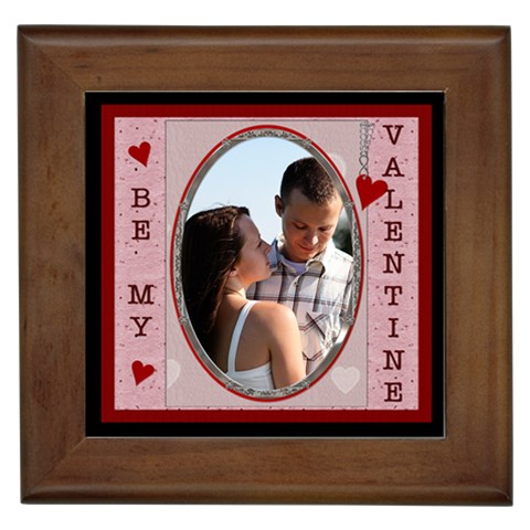 Be My Valentine Framed Tile By Lil    Framed Tile   Gpb3f5pxqrx2   Www Artscow Com Front