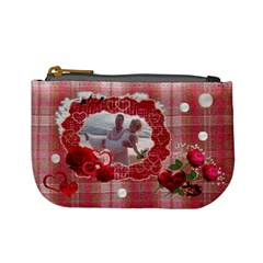 Red Hearts N Roses Valentine Mini Coin Purse  By Ellan   Mini Coin Purse   Q7wessgxw0m1   Www Artscow Com Front
