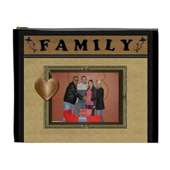 Family Framed Xl Cosmetic Bag By Lil    Cosmetic Bag (xl)   4prl5wis8eg8   Www Artscow Com Front