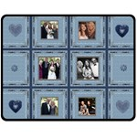 Pretty Blue Family Mediium Fleece Blanket - Fleece Blanket (Medium)