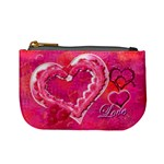 Love Pink Heart Valentine mini coin purse
