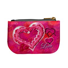 Love Pink Heart Valentine Mini Coin Purse By Ellan   Mini Coin Purse   6zszpatrvt0t   Www Artscow Com Back