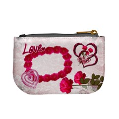 Love Pink Roses Valentine Mini Coin Purse By Ellan   Mini Coin Purse   Dvf9vjm5gb3b   Www Artscow Com Back