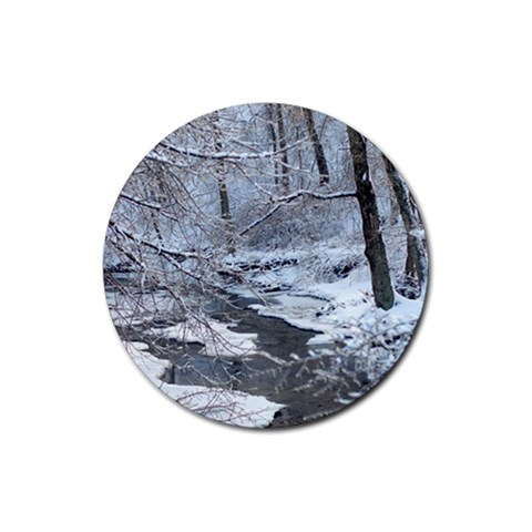 Snow Coasters By L  Lee   Rubber Round Coaster (4 Pack)   6veclny1t3ow   Www Artscow Com Front