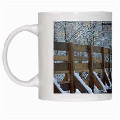 Snowy Bridge Mug By L  Lee   White Mug   Xvjnsix6b1o6   Www Artscow Com Left