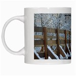 snowy bridge mug - White Mug