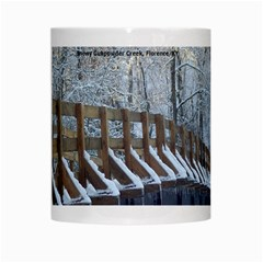Snowy Bridge Mug By L  Lee   White Mug   Xvjnsix6b1o6   Www Artscow Com Center