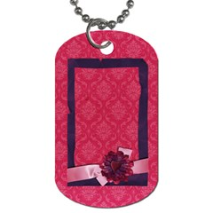 Love Ya Big Dog Tag (2 Sides) By Mikki   Dog Tag (two Sides)   Qizgkvmg6d4o   Www Artscow Com Front