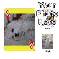 Queen Playing Cards With Snowy s Photos By Xinpei   Playing Cards 54 Designs   Le6lpxwj0c5h   Www Artscow Com Front - HeartQ