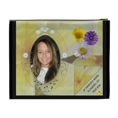 Friends & Flowers Xl Cosmetic Bag By Lil    Cosmetic Bag (xl)   1ngmsh5ccjow   Www Artscow Com Back