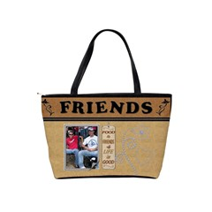 Food & Friends Classic Shoulder Handbag By Lil    Classic Shoulder Handbag   0o7yvwt1bdgp   Www Artscow Com Back
