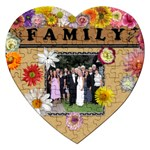 Family Flower Heart Puzzle - Jigsaw Puzzle (Heart)