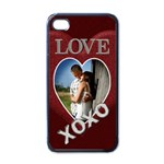 Love XOXO Apple iphone Case - Apple iPhone 4 Case (Black)