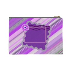 Purple Flower L Cosmetic Bag By Daniela   Cosmetic Bag (large)   26re5dpf4qka   Www Artscow Com Back