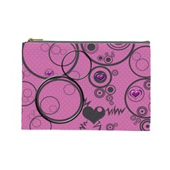 Love Bubbles L Cosmetic Bag By Daniela   Cosmetic Bag (large)   Ktkajuu6mchl   Www Artscow Com Front
