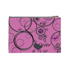Love Bubbles L Cosmetic Bag By Daniela   Cosmetic Bag (large)   Ktkajuu6mchl   Www Artscow Com Back